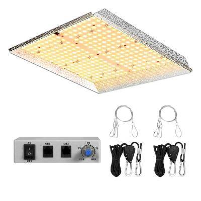14 in. 1000-Watt Gray Dimmable Full Spectrum LED Grow Light Daylight with Daisy Chain, MeanWell Driver