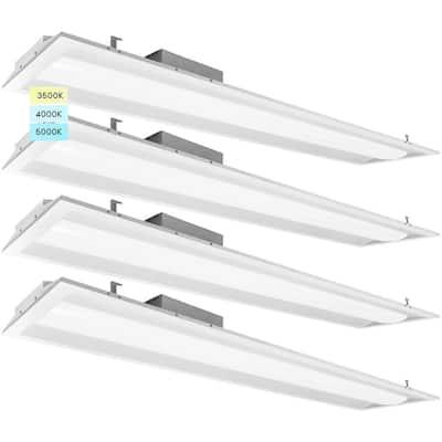 1 ft. x 4 ft. Center Basket LED Troffer Panel Light 2000/2500/3750 Lumens 3500K/4000K/5000K Dimmable Damp Rated (4-Pack)
