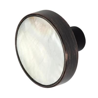 Pearl 1-3/8 in. Oil Rubbed Bronze Cabinet Knob
