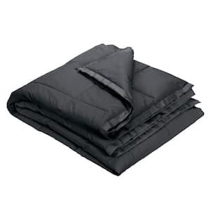 LaCrosse Down Charcoal Gray Cotton King Blanket