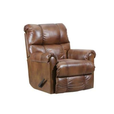 36 in. Width Big and Tall Chaps Pattern Leather Rocking Zero Gravity Recliner