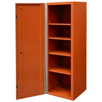 DX 19 in. 4-Shelf Side Locker Tool Chest in Orange with Black Handle