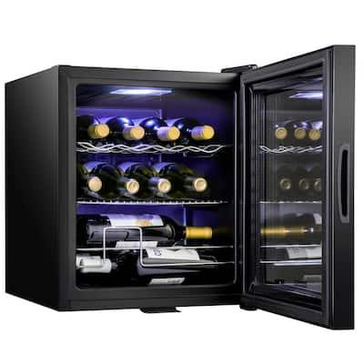 17.3 in. 12 Bottle Compressor Square Freestanding Wine and Beverage Cooler