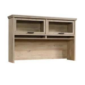 Aspen Post 65.118 in. W Prime Oak Rectangle Engineered Wood Office Hutch with Glass Doors