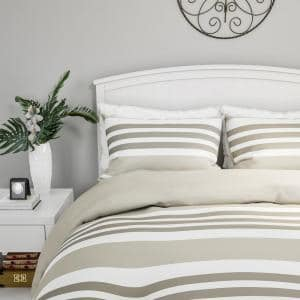 3-Piece Lavender and Sand King Comforter Set