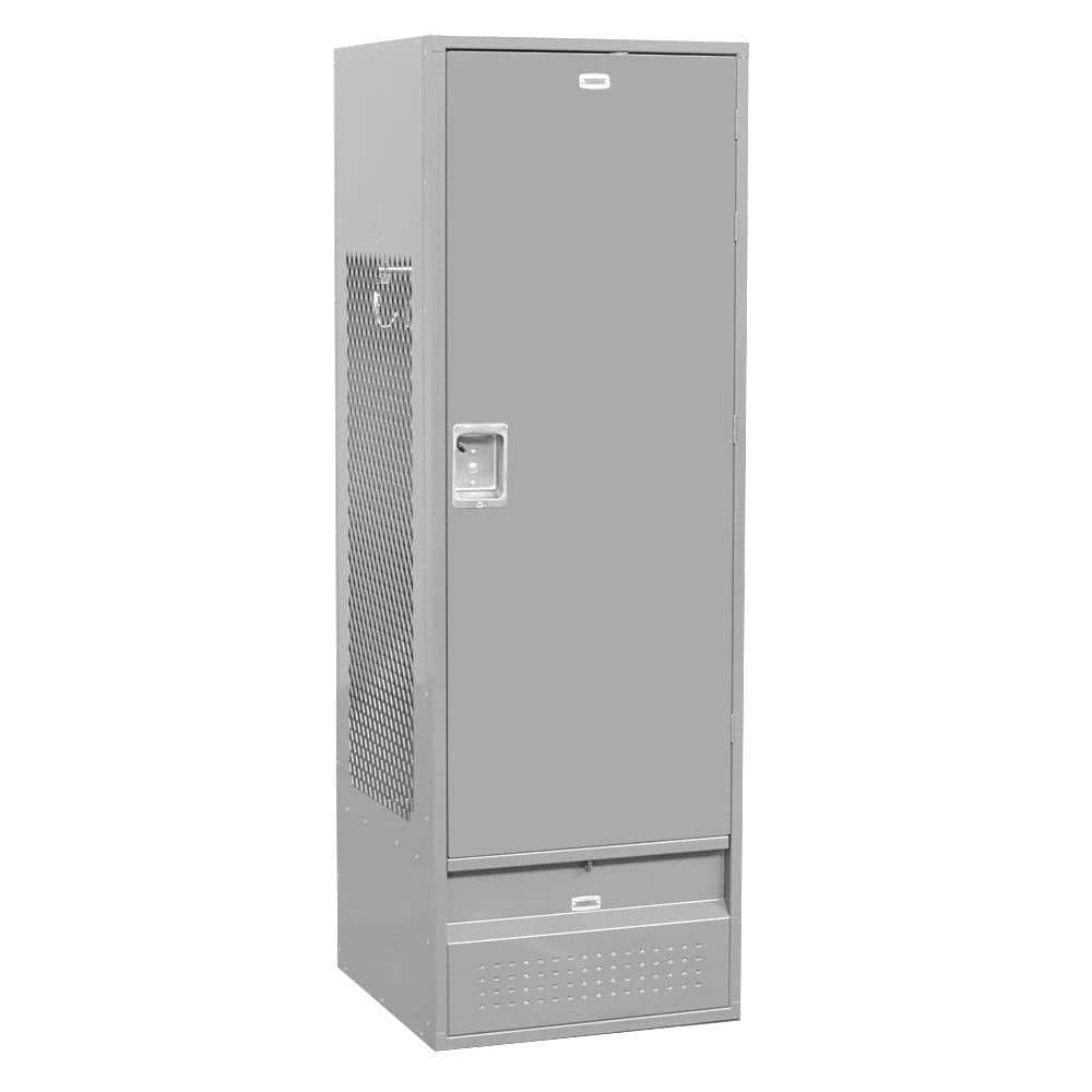Salsbury Industries 71000 Series 24 In W X 72 In H X 24 In D Gear Metal Locker With Solid Door Unassembled In Gray 71024gy U The Home Depot
