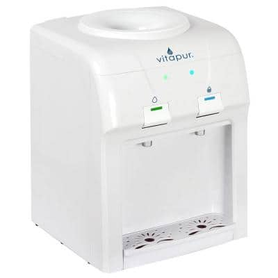 3-5 Gal. Cold/Room Temperature Countertop Water Cooler Dispenser in White