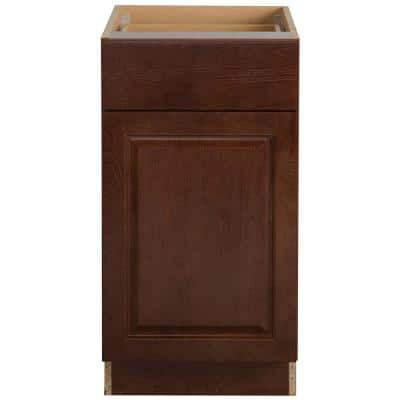 Benton Assembled 18x34.5x24 in. Base Cabinet with Soft Close Full Extension Drawer in Amber