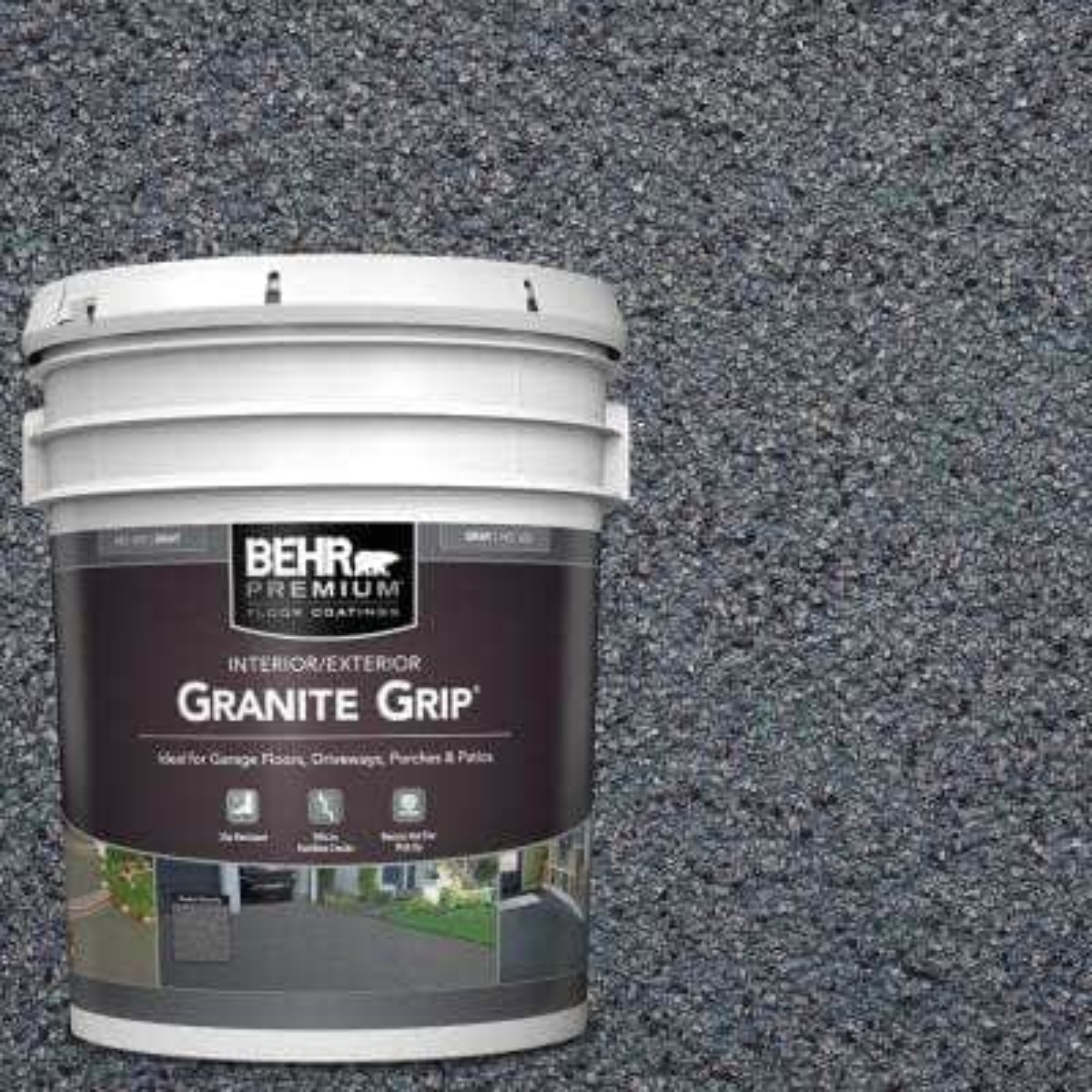 5 Gal. #GG-05 Azul Diamond Decorative Flat Interior/Exterior Concrete Floor Coating
