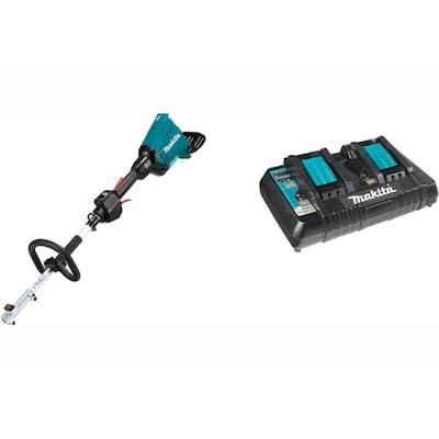 18-Volt X2 (36-Volt) LXT Brushless Couple Shaft Power Head (Tool-Only) with 18-Volt LXT Dual Port Rapid Optimum Charger