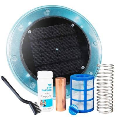 Solar-Powered Algaecide Killer Pool Ionizer and Purifier System