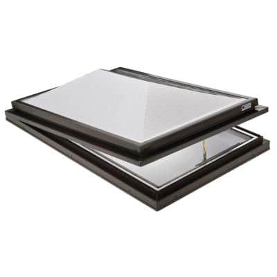 Prismatic 2 ft. x 3 ft. Venting Curb-Mounted Double Hip Skylight