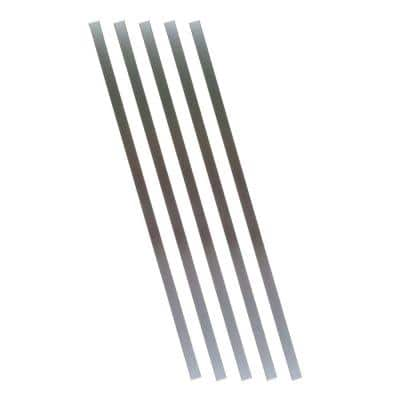 32 in. x 3/4 in. Charcoal Aluminum Square Deck Railing Baluster (5-Pack)