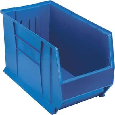 30 in. Quantum Hulk 33 Gal. Storage Tote in Blue (1-Pack)