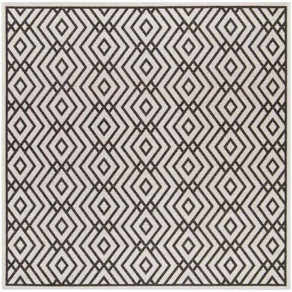 Safavieh Linden Light Gray Charcoal 6 Ft 7 In X 6 Ft 7 In Square Area Rug Lnd126a 6sq The Home Depot