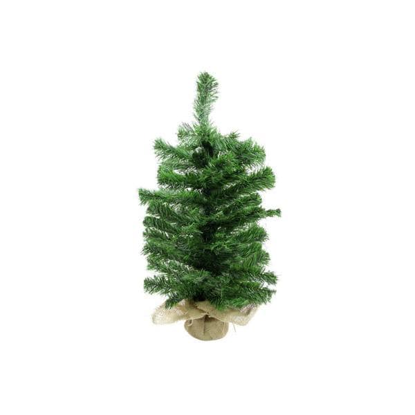 Darice 2 Ft Unlit 2 Tone Balsam Fir Artificial Christmas Tree In Burlap Base 31393648 The Home Depot