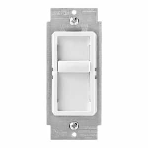 Decora SureSlide Universal 150-Watt LED/CFL Incandescent Slide-to-Off Dimmer, White (3-Pack)