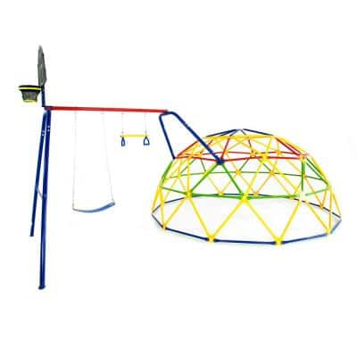 12 ft. Geo Dome Climber with Swing Set