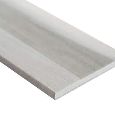 Water Color Grigio Bullnose 3.5 in. x 24 in. Matte Porcelain Wall Tile (24 lin. ft./Case)