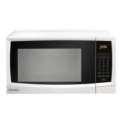 1.1 cu. ft. Countertop Microwave in White