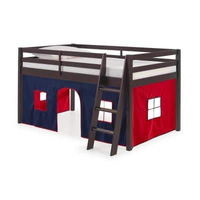 Roxy Espresso with Blue and Red Bottom Tent Twin Junior Loft