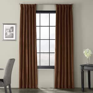 Java Velvet Rod Pocket Blackout Curtain - 50 in. W x 108 in. L
