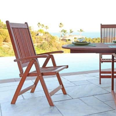 Roch Eucalyptus Folding Patio Armchair