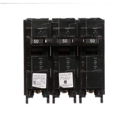 50 Amp Three-Pole Type QPH 22kA Circuit Breaker