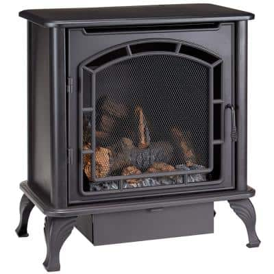 23,000 BTU Ventless Dual Fuel Gas Stove with Thermostat