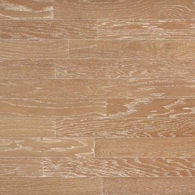 Brushed Oak Biscotti 3/4 in. Thick x 4 in. Wide x Random Length Solid Hardwood Flooring (21 sq. ft. / case)