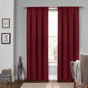 Sangria Rod Pocket Blackout Curtain - 52 in. W x 95 in. L