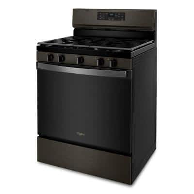 5 cu. ft. Gas Range with Air Fry Oven in Black Stainless