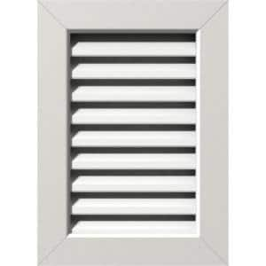 21 in. x 41 in. Rectangular White PVC Paintable Gable Louver Vent