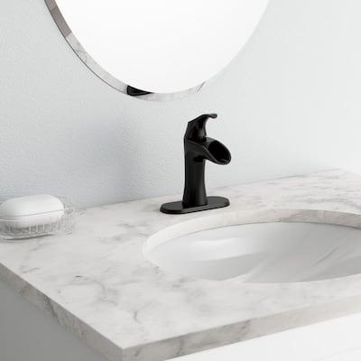 Brea 4 in. Centerset Single-Handle Bathroom Faucet in Tuscan Bronze