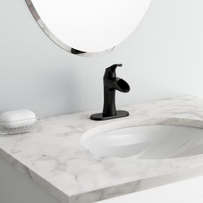 Brea 4 in. Centerset Single-Handle Bathroom Faucet in Tuscan Bronze (2-Pack Combo)