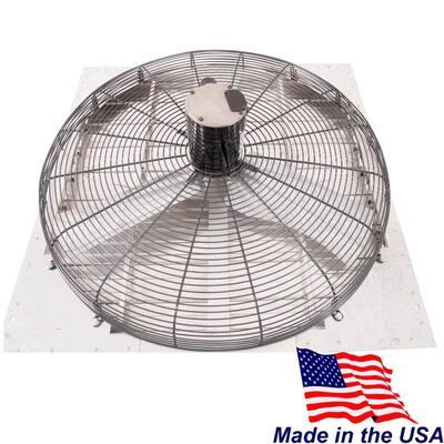 8860 CFM Shutter Exhaust Fan Wall Mounted