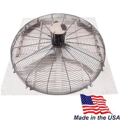 36 in. 8860 CFM Shutter Exhaust Fan Wall Mounted