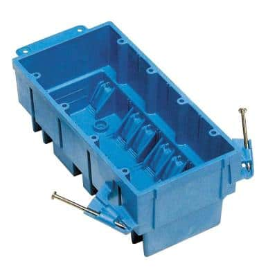 4-Gang New Work Hard Shell PVC Wall Box