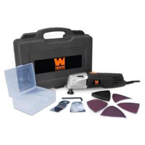 2 Amp Variable Speed Oscillating Multi-Function Tool Kit with Storage Case