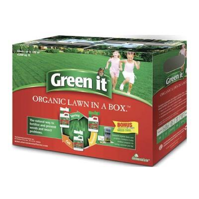 Organic Lawn in a Box 2x4.4lb Liquid Corn Gluten(4-0-0) 1x4.4lb Fish & Seaweed(2-1-3) 3 season Lawn Fertilizer