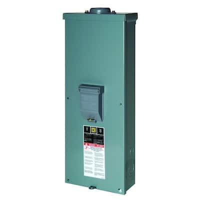 QO 200 Amp 2-Pole Outdoor Circuit Breaker Enclosure with QOM2200VH Breaker