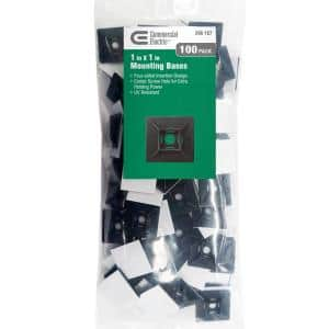 1 in. UV Mounting Base - Black (100-Pack)