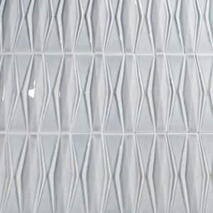 Delphi Harlequin Gunmetal 13 in. x 16 in. Polished Ceramic Mosaic Tile (1.41 sq. ft./Sheet)