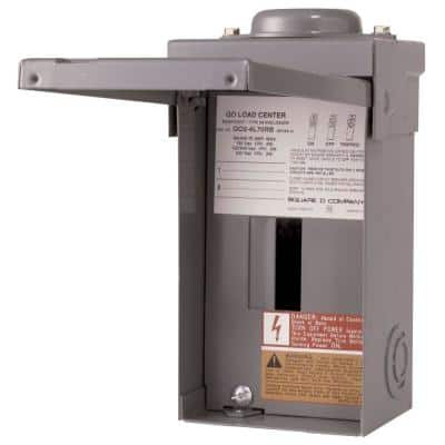 QO 70 Amp 2-Space 4-Circuit Outdoor Main Lug Load Center with Cover