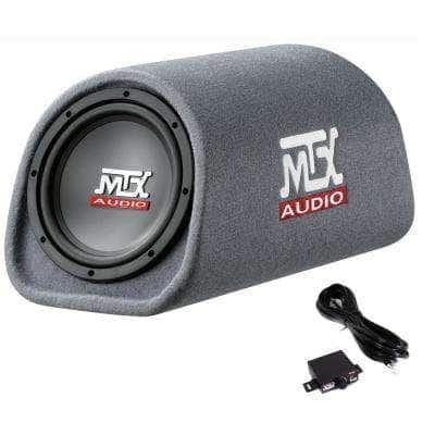 MTX AUDIO RT8PT 8 in. 240-Watt Car Loaded Subwoofer Enclosure Amplified Tube Box Vented