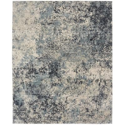 Blues and Greys 8 ft. x 10 ft. Area Rug