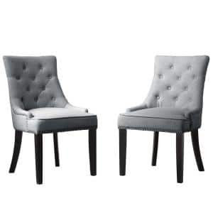 Toulon Grey Cushion Accent Dining Chair (Set of 2)