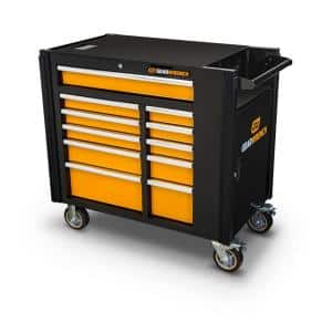 42 in. 11-Drawer Mobile Work Station Utility Cart
