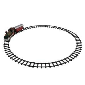 8-Piece Battery Operated Red and Green Animated Classic Train Set with Sound