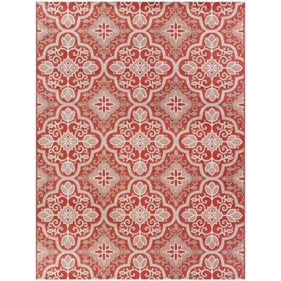 Star Moroccan Red 5 ft. x 7 ft. Indoor/Outdoor Area Rug